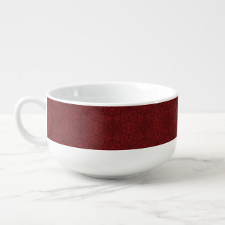 Detailed Red Floral Wallpaper Soup Mug