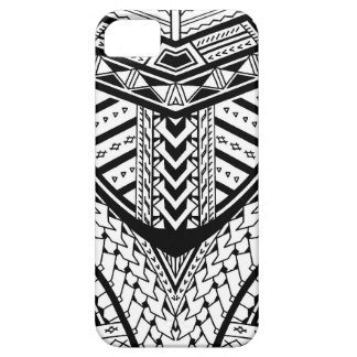 Detailed Samoan tribal tattoo pattern iPhone 5 Covers