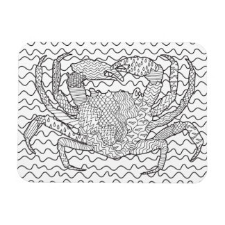 Detailed Sea Crab Doodle Magnet