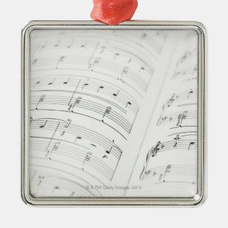 Detailed Sheet Music 3 Christmas Ornament
