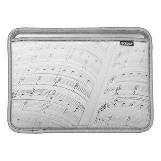 Detailed Sheet Music 3 MacBook Sleeve
