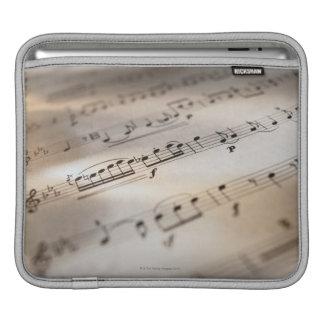 Detailed Sheet Music iPad Sleeve