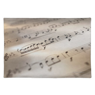 Detailed Sheet Music Placemat