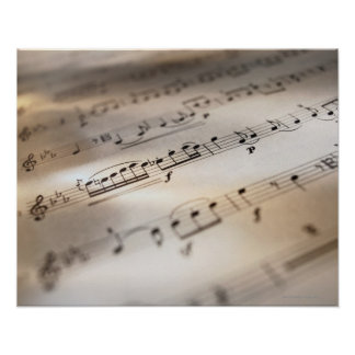 Detailed Sheet Music Poster