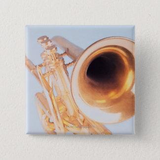 Detailed Trumpet 2 15 Cm Square Badge
