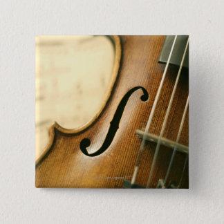 Detailed Violin 15 Cm Square Badge