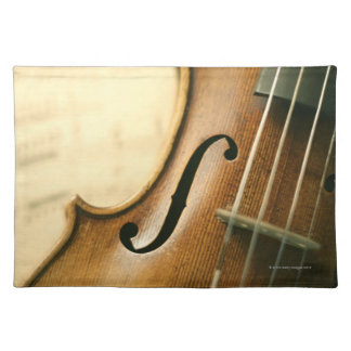 Detailed Violin Placemat