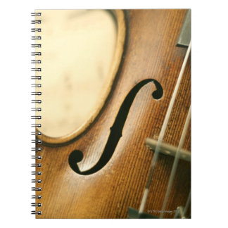 Detailed Violin Spiral Notebook