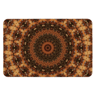 "Detailed ""Walk in the Woods"" Mandala Kaleidoscope Rectangular Photo Magnet"