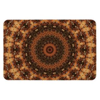 "Detailed ""Walk in the Woods"" Mandala Kaleidoscope Rectangular Photo Magnet"