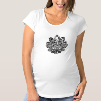 Detailed zendoodle Lotus Maternity T-Shirt