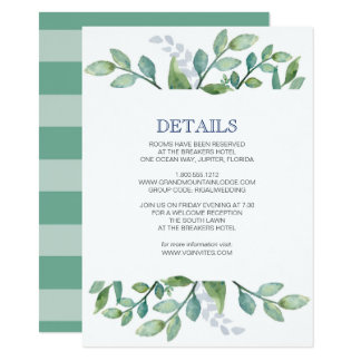 Details Card Greenery Suite