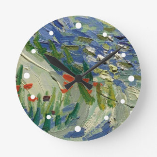 Details from Van Gogh's Olive Grove Wallclock