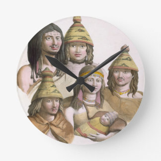 Details of headdresses in North West America (colo Round Clock