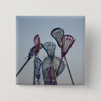 Details of Lacrosse game 15 Cm Square Badge