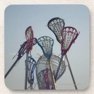 Details of Lacrosse game Beverage Coasters