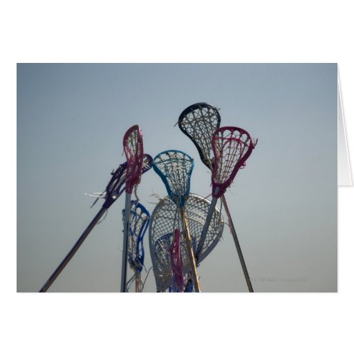 Details of Lacrosse game Greeting Card