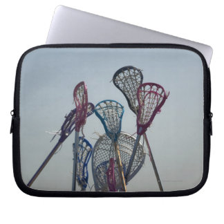 Details of Lacrosse game Laptop Sleeve