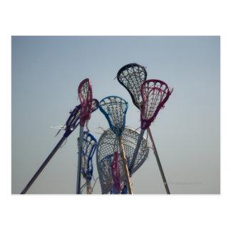 Details of Lacrosse game Postcard