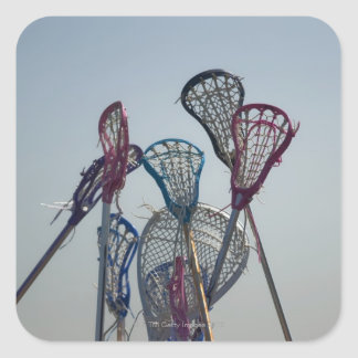 Details of Lacrosse game Square Sticker