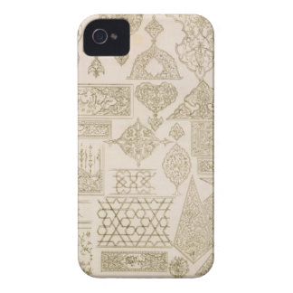 Details of ornamentation for arms, borders, manusc Case-Mate iPhone 4 cases