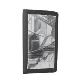 Details of the bridge tri-fold wallet
