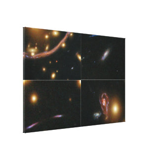 Details of the Hubble Abell 370 Image Canvas Prints