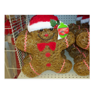 Detained Gingerbread Man Postcard