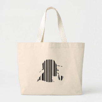 DETECTIVE BAR CODE Pipe Smoking Barcode Pattern Jumbo Tote Bag