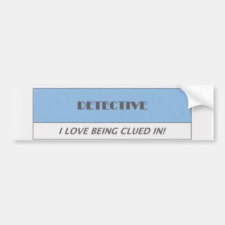 Detective Bumper Sticker