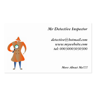 Detective Double-Sided Standard Business Cards (Pack Of 100)