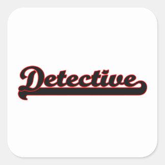 Detective Classic Job Design Square Sticker