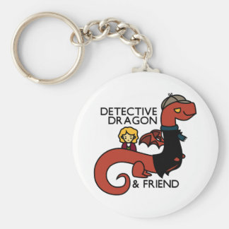 detective dragon and friend key chains