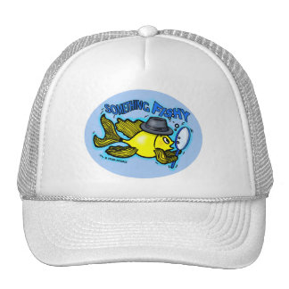 DETECTIVE FISH funny cartoon HAT