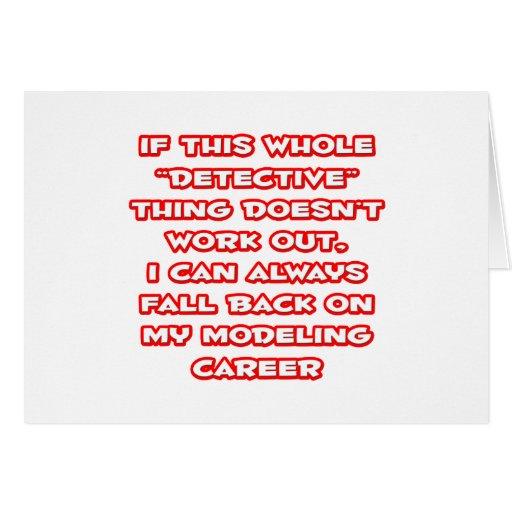 Detective Humor ... Modeling Career Card