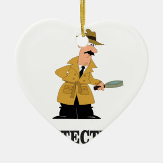 detective man christmas ornament