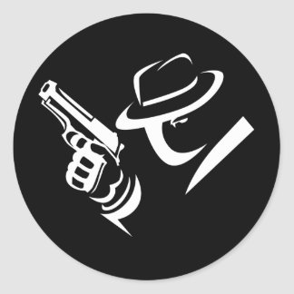 Detective Mobster Sticker 2