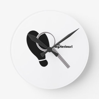 Detective Mysterious Round Wall Clock
