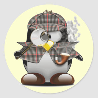 Detective Penguin Stickers