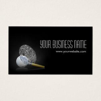 Detective Professional Fingerprint Business Card