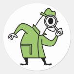 Detective Round Sticker