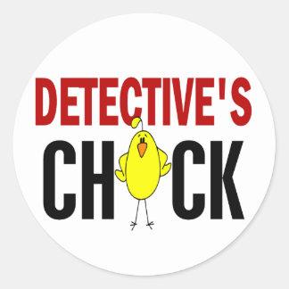 Detective's Chick 1 Round Sticker