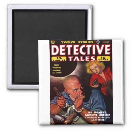 Detective Stories - The Farmer's Daughter Murder Fridge Magnet