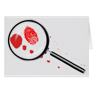 Detectives Magnifying Glass Card