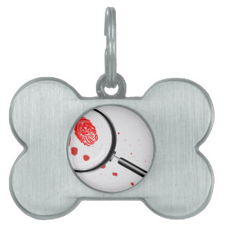 Detectives Magnifying Glass Pet Name Tag