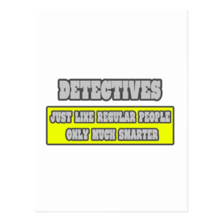 Detectives Much Smarter Postcard