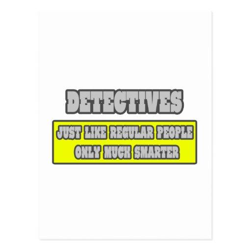 Detectives...Much Smarter Postcard