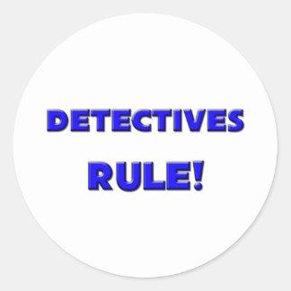 Detectives Rule! Round Sticker