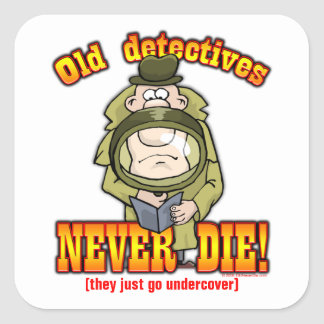 Detectives Square Sticker