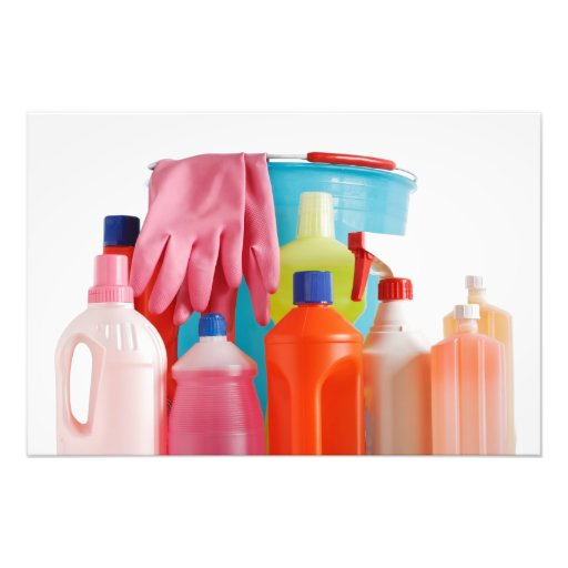detergent bottles and bucket photograph